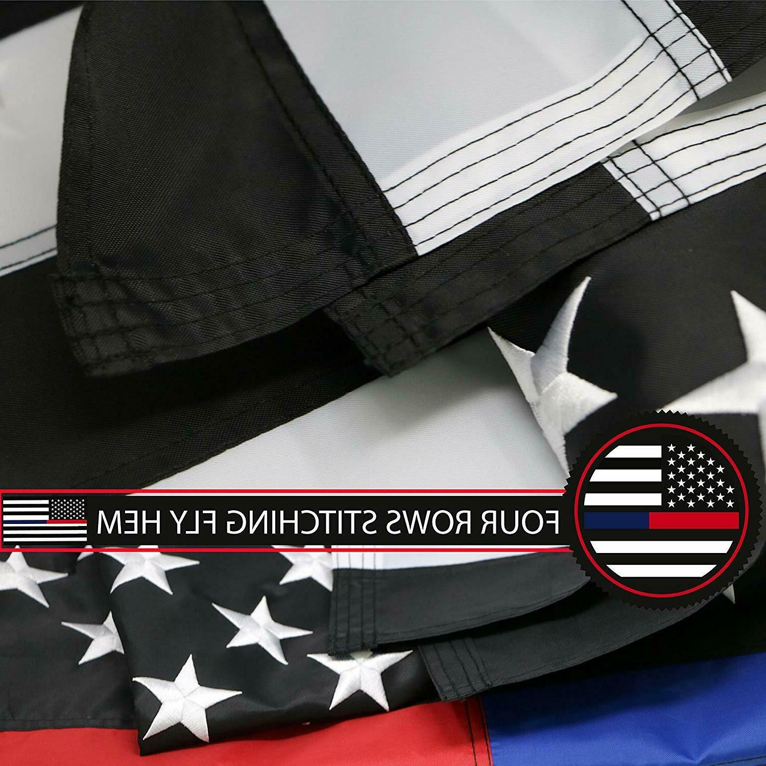 G128 Thin Blue & Line Flag | Embroidered Stars Sewn