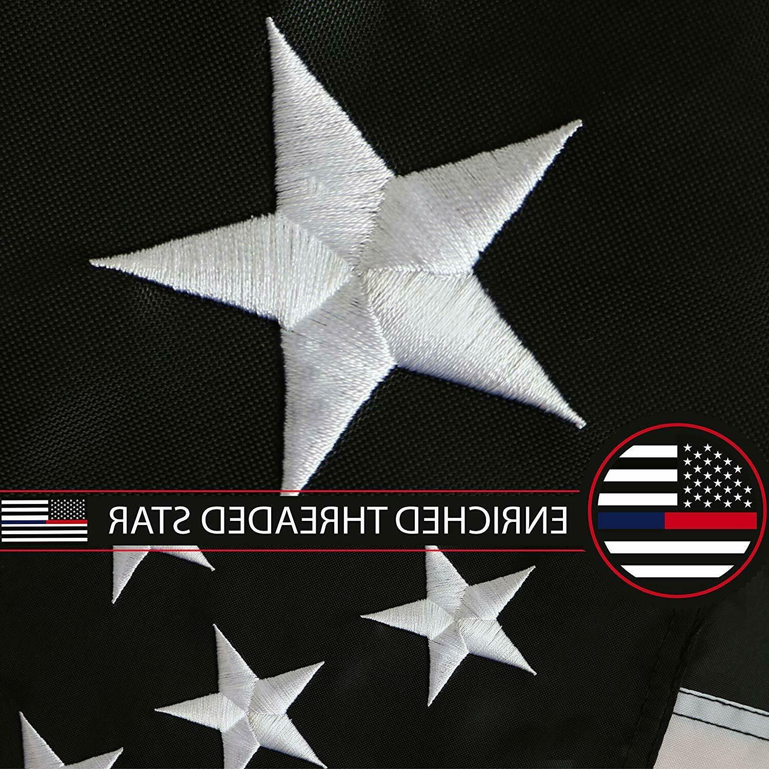 G128 Thin Blue & Flag 3x5ft | Embroidered