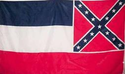 Mississippi State Flag 3x5 Printed Polyester - Heavy canvas