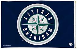 MLB Seattle Mariners 3-Foot by 5-Foot Banner Flag