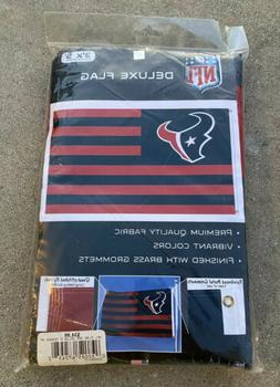 NEW WinCraft Houston Texans 3x5' Ft Deluxe Flag NFL FREE Shi