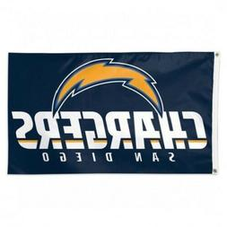 NFL San Diego Chargers Wincraft 3' X 5' Deluxe Flag With Met