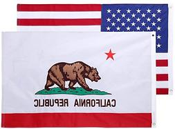 3x5 Feet Nylon Double Sided California State Flag by Cascade