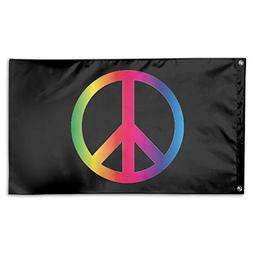 UDSNIS Rainbow Peace Sign Pride Garden Flag 3 X 5 Flag For H