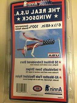"""THE REAL U.S.A. WINDSOCK 6 1/2""""X48"""""""