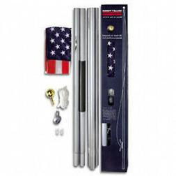 20 FT Residential Flag Pole Flagpole Kit & 3x5 US American F