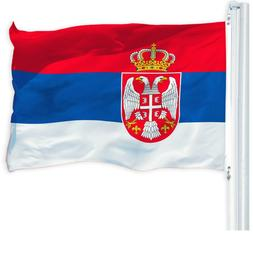G128 Serbian Flag 3x5ft Republic of Serbia Country National