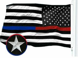 thin blue and red line police flag