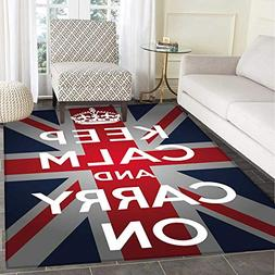 Union Jack Customize Floor mats for home Mat Keep Calm and C