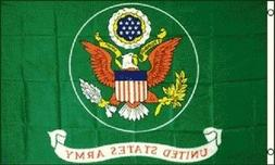 United States Army Flag US Green Banner Military Pennant 3x5