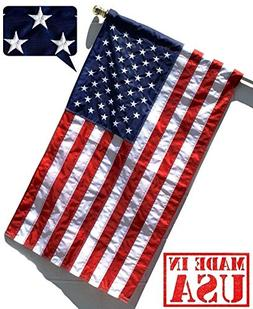 US Flag Factory - 3'x5' US USA American Flag   Outdoor Solar