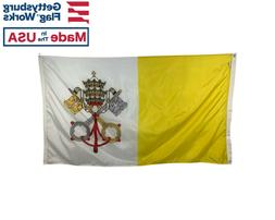 Vatican City Papal Flag - Durable All-Weather Nylon Multiple
