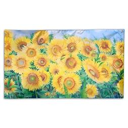 THEBEST Outdoor Wall Decorative Flags - Bright Sunflowers -